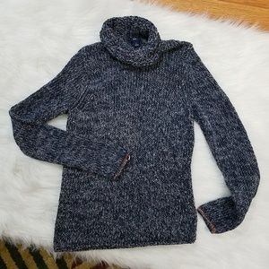 GAP Sweaters - Gap Chunky Turtleneck Sweater Blue White